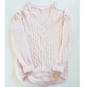 NWOT Blush Cold Shoulder Candie's Sweater (Small)
